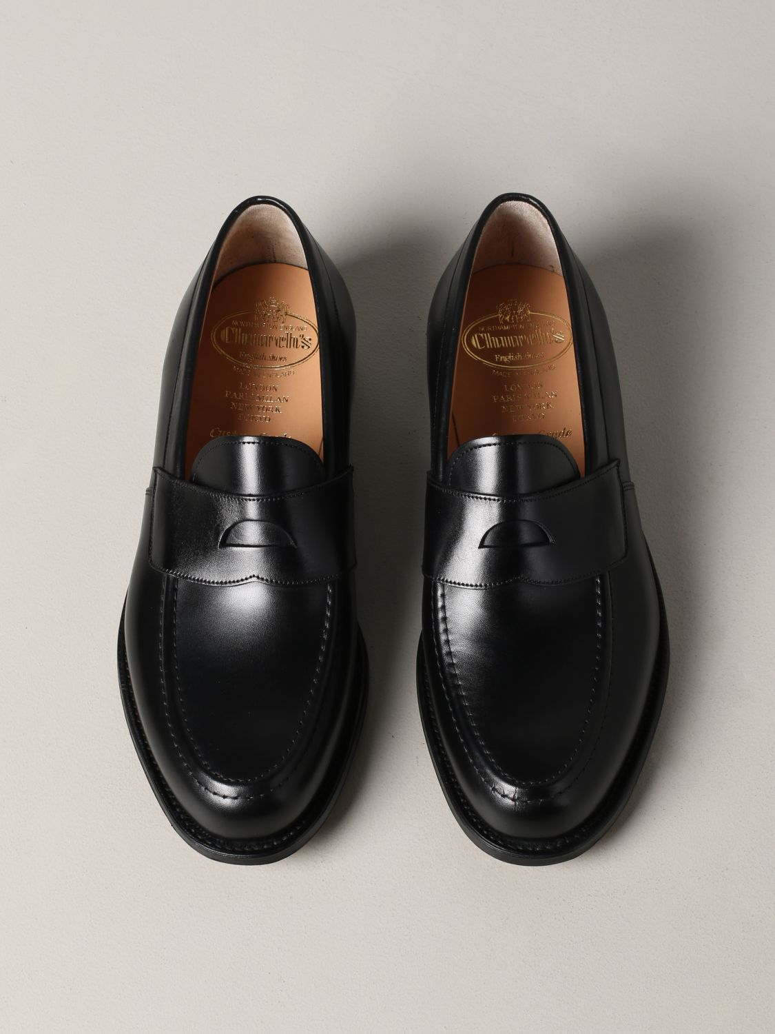 Loafers Church's: Dawley Church's loafer in leather with sleeper black 3