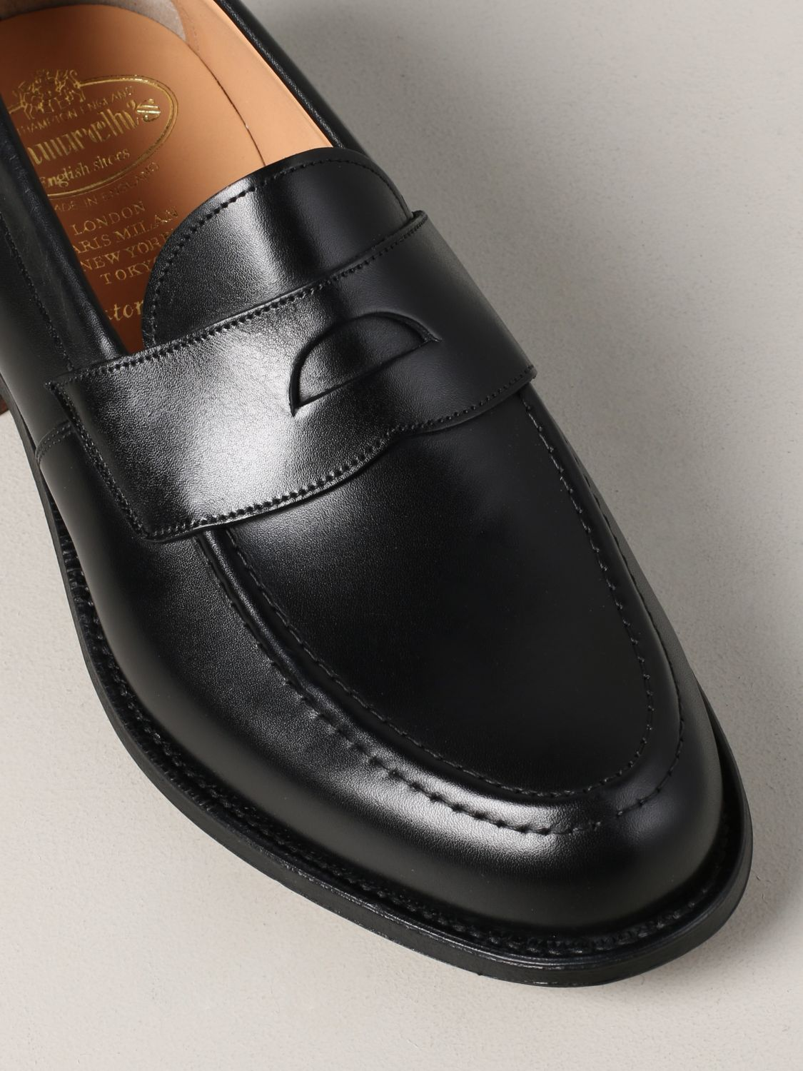 Loafers Church's: Dawley Church's loafer in leather with sleeper black 4