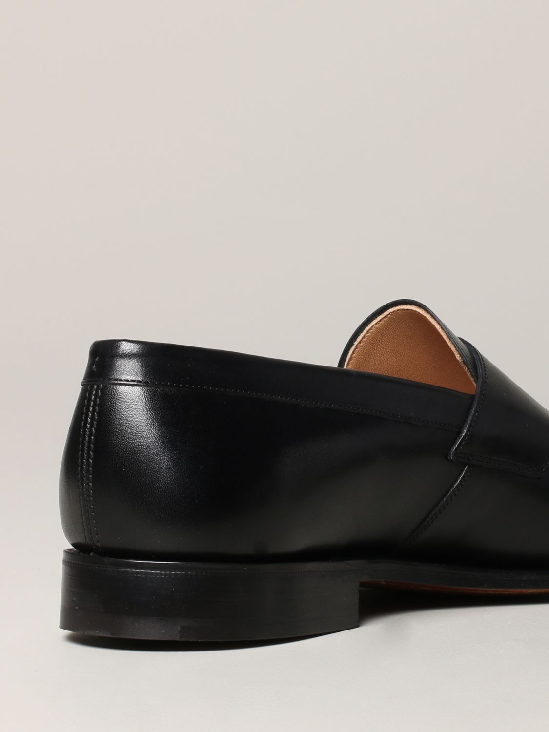 Loafers Church's: Dawley Church's loafer in leather with sleeper black 5