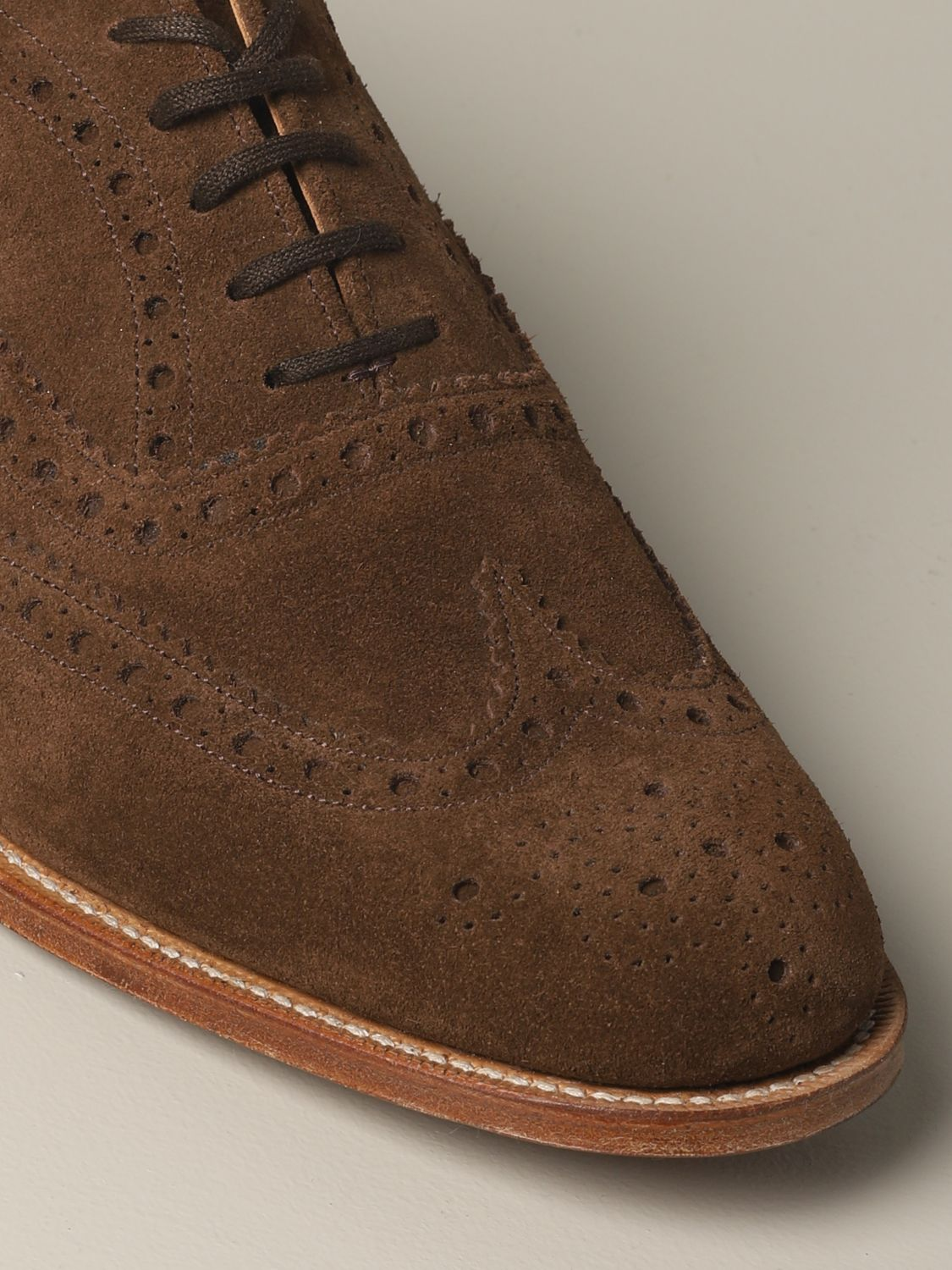 Brogue shoes Church's: Francesina Burwood Church's in suede with brogue motif brown 4