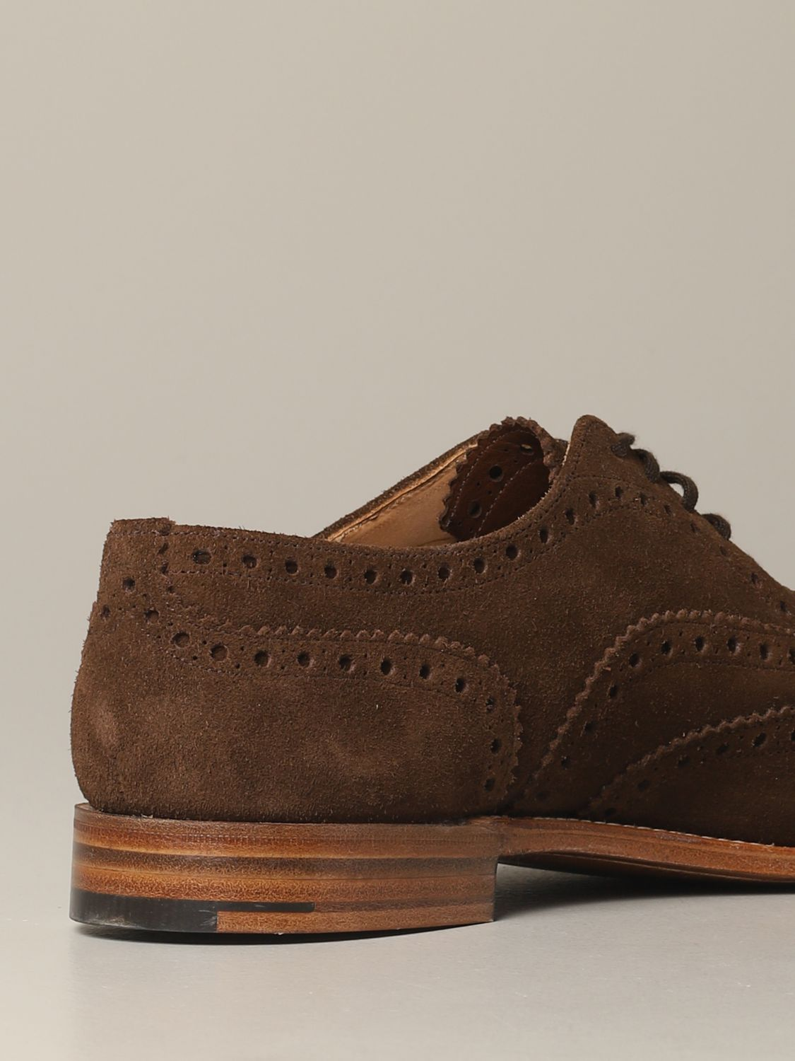 Brogue shoes Church's: Francesina Burwood Church's in suede with brogue motif brown 5