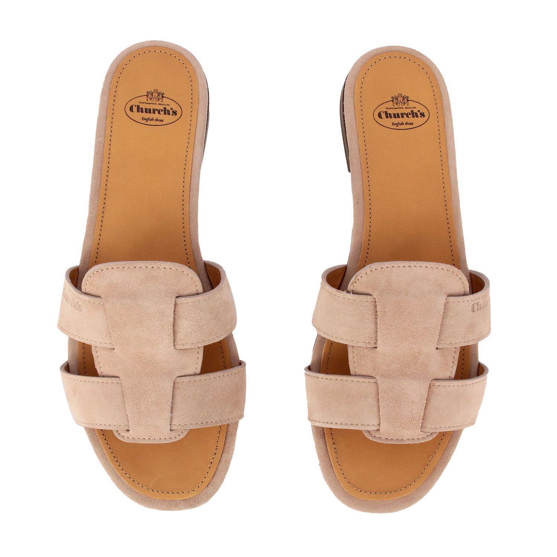 Flat sandals Church's: Shoes women Church's blush pink 3