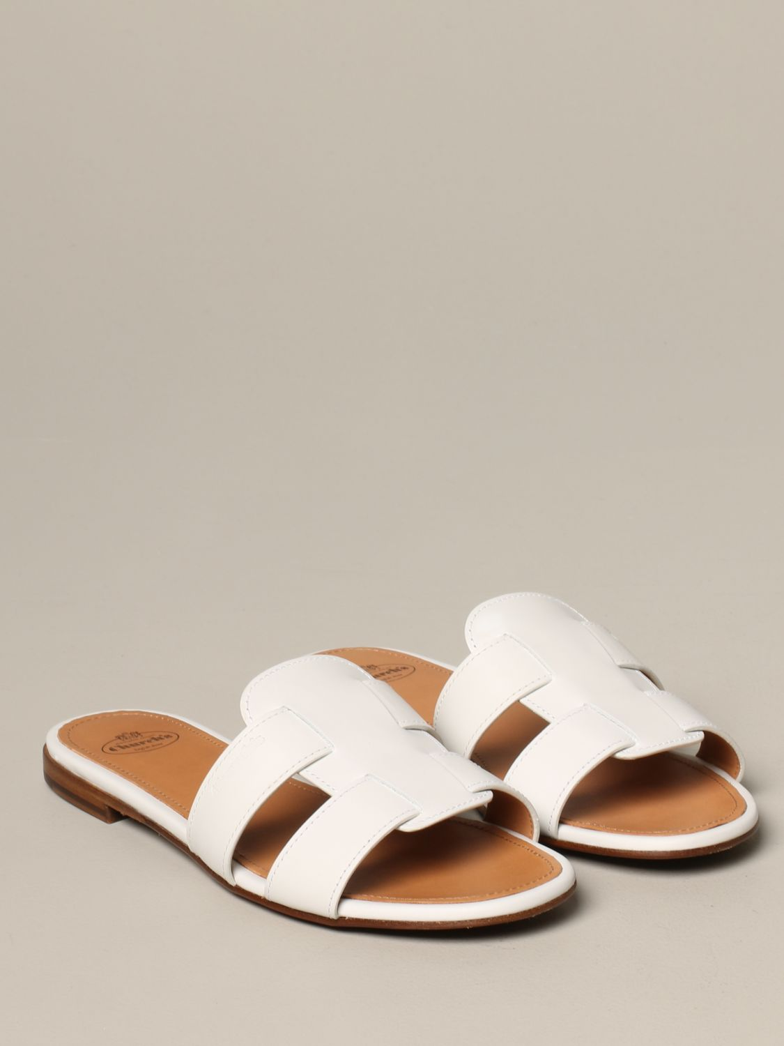 Flat sandals Church's: Shoes women Church's white 2