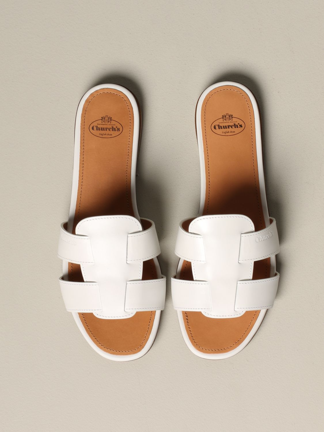Flat sandals Church's: Shoes women Church's white 3