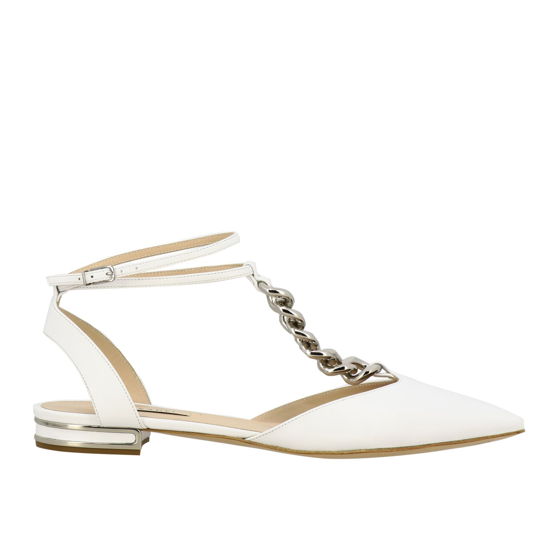 Ballet pumps Casadei: Shoes women Casadei white 1