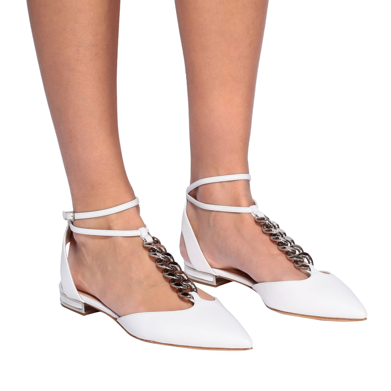 Ballet pumps Casadei: Shoes women Casadei white 2
