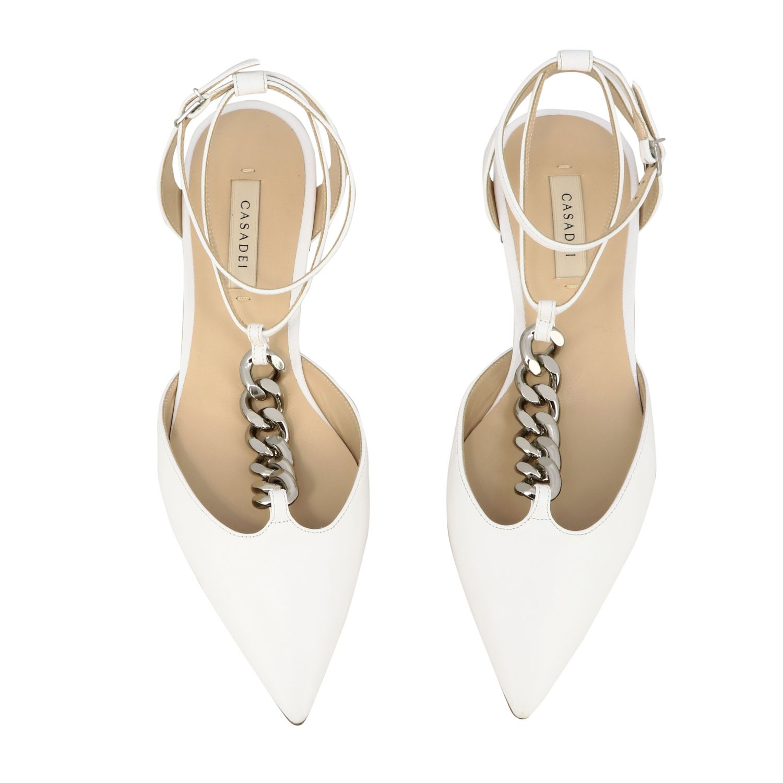 Ballet pumps Casadei: Shoes women Casadei white 3