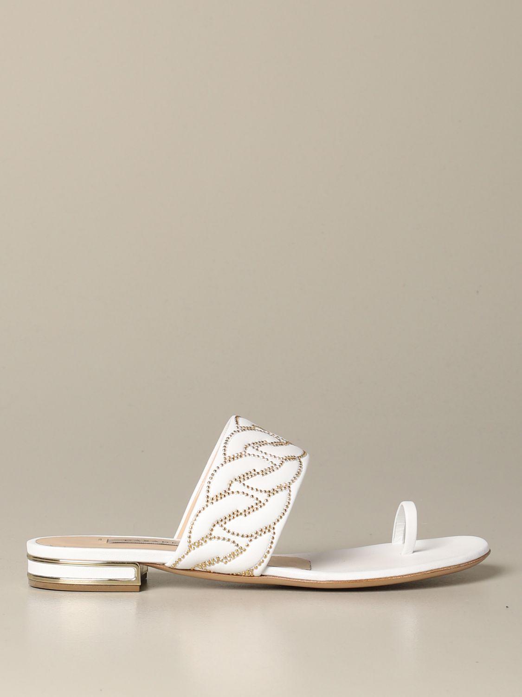 Flat sandals Casadei: Shoes women Casadei white 1