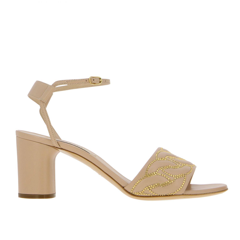Heeled sandals Casadei: Shoes women Casadei blush pink 1