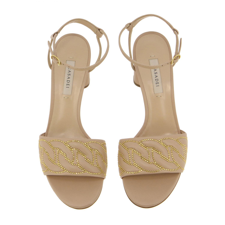 Heeled sandals Casadei: Shoes women Casadei blush pink 3
