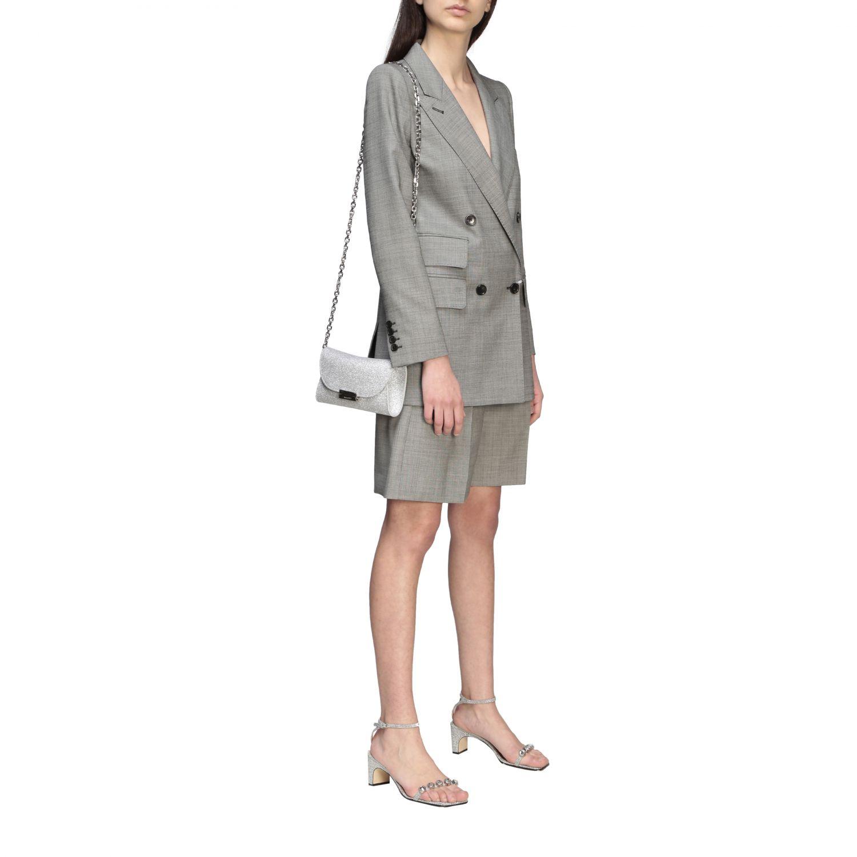 Crossbody bags Casadei: Shoulder bag women Casadei silver 2