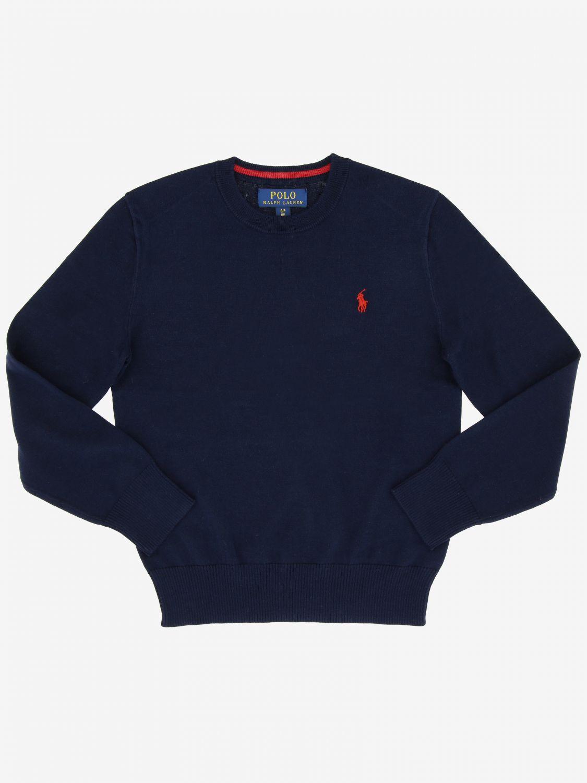 Polo Ralph Lauren Boy 棉上衣 蓝色 1