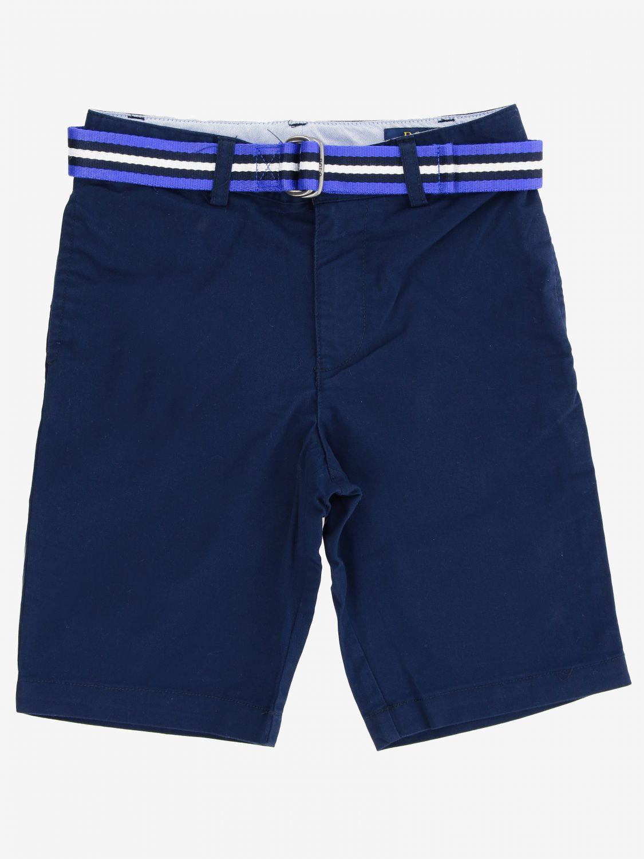 Short Polo Ralph Lauren Boy short avec ceinture bleu 1