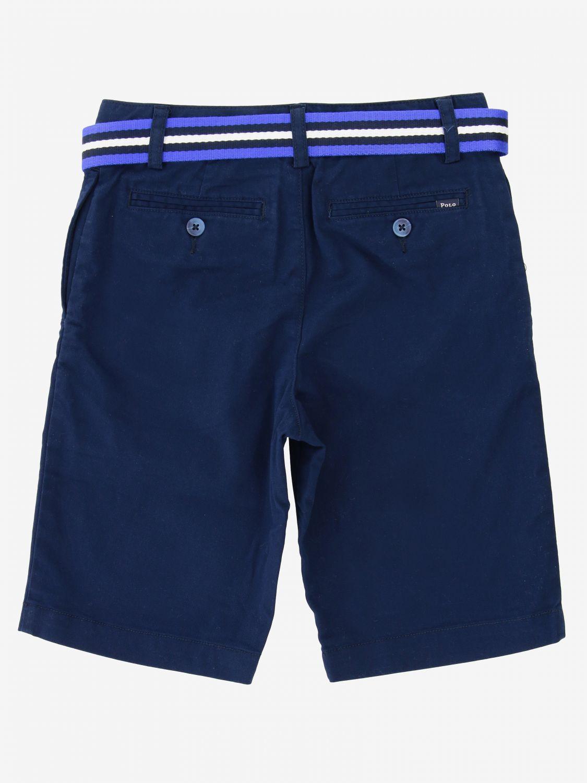 Short Polo Ralph Lauren Boy short avec ceinture bleu 2