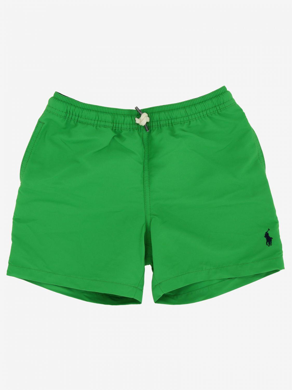 Short de bain Polo Ralph Lauren Boy avec logo vert 1