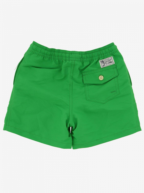 Short de bain Polo Ralph Lauren Boy avec logo vert 2