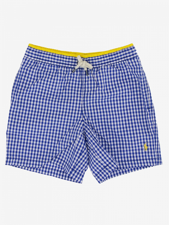 Polo Ralph Lauren Boy logo 泳裤 浅蓝色 1