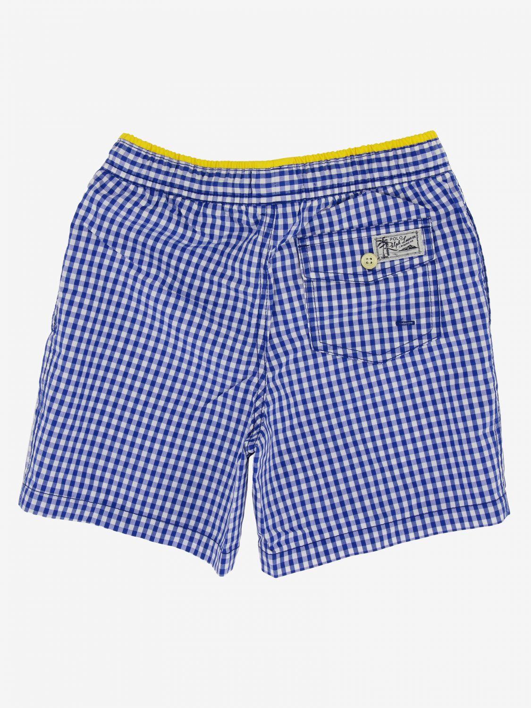 Polo Ralph Lauren Boy logo 泳裤 浅蓝色 2