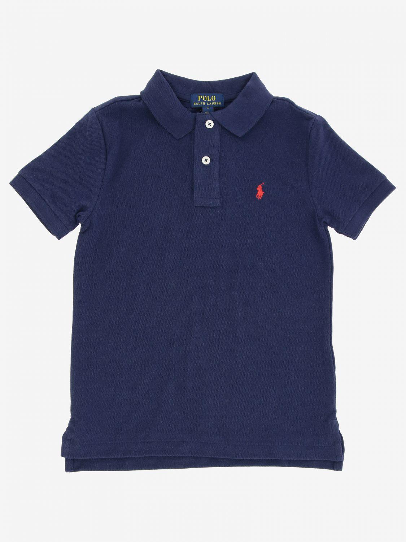 Polo Polo Ralph Lauren Kid avec logo brodé bleu 1