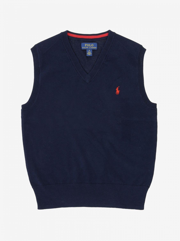 Gilet Polo Ralph Lauren Kid avec logo bleu 1