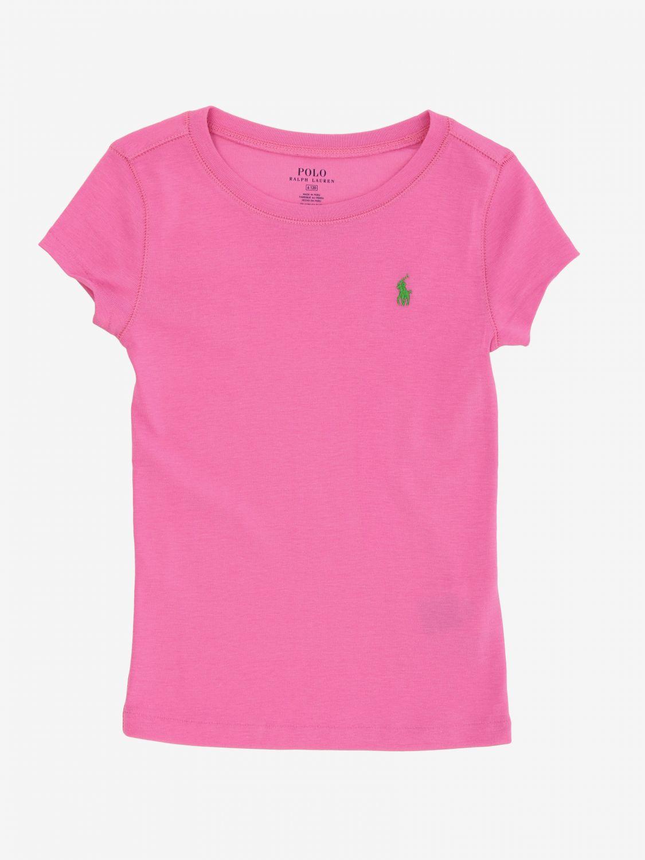 T-shirt Polo Ralph Lauren Toddler basic fuchsia 1