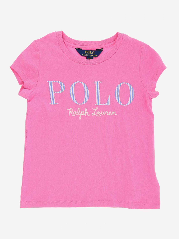 T-shirt Polo Ralph Lauren Toddler avec logo fuchsia 1