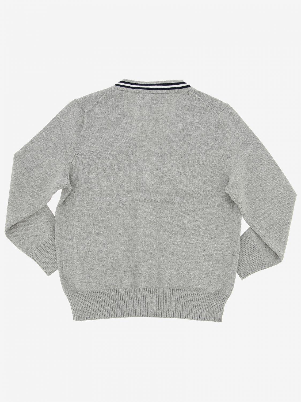 Cardigan Polo Ralph Lauren Toddler avec logo gris 2