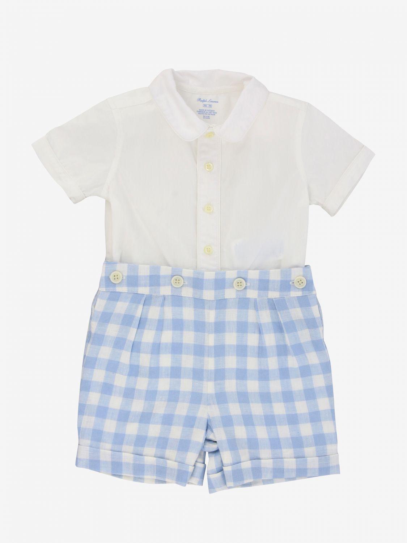 Jumpsuit kids Polo Ralph Lauren Infant gnawed blue 1