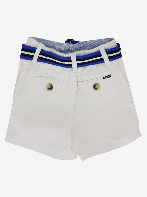 Short Polo Ralph Lauren Infant avec ceinture blanc 2