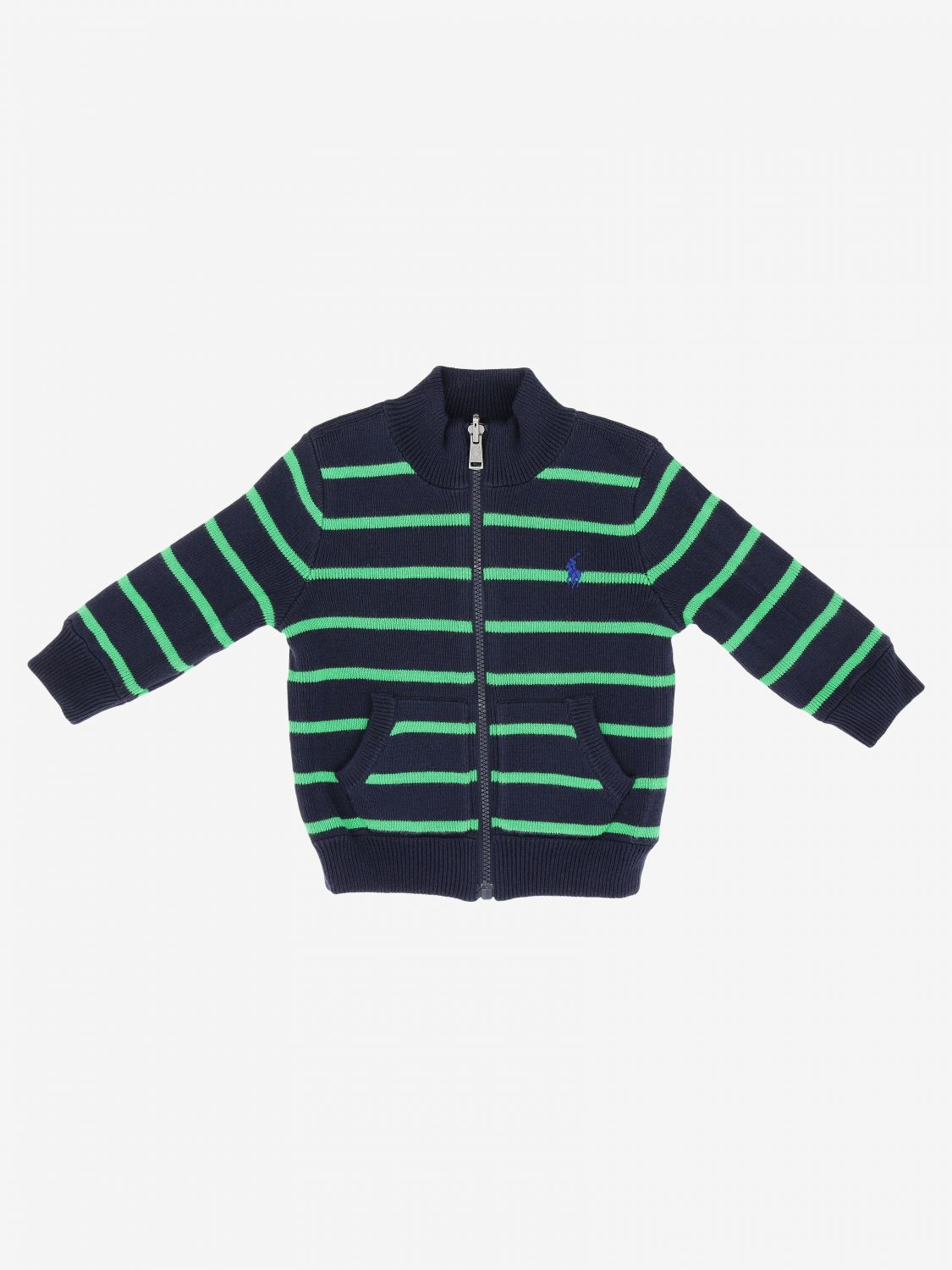 Polo Ralph Lauren Infant reversible cardigan blue 3