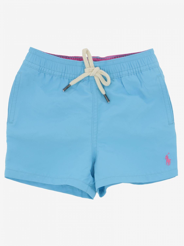 Short de bain Polo Ralph Lauren Infant avec logo turquoise 1