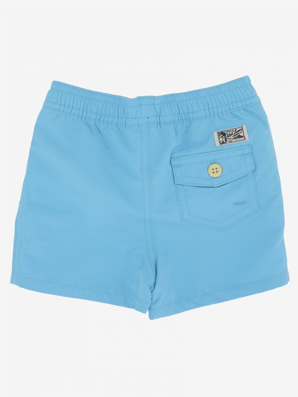Short de bain Polo Ralph Lauren Infant avec logo turquoise 2