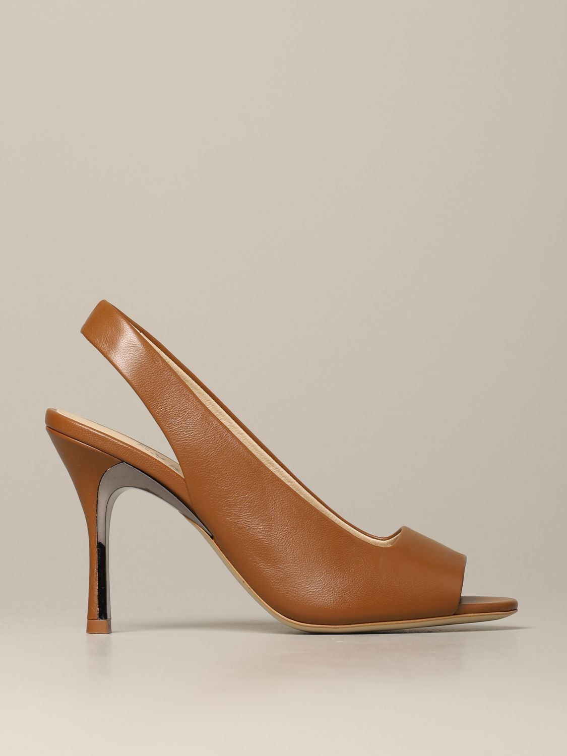 Slingback Yc74 Fulra in nappa leather brown 1