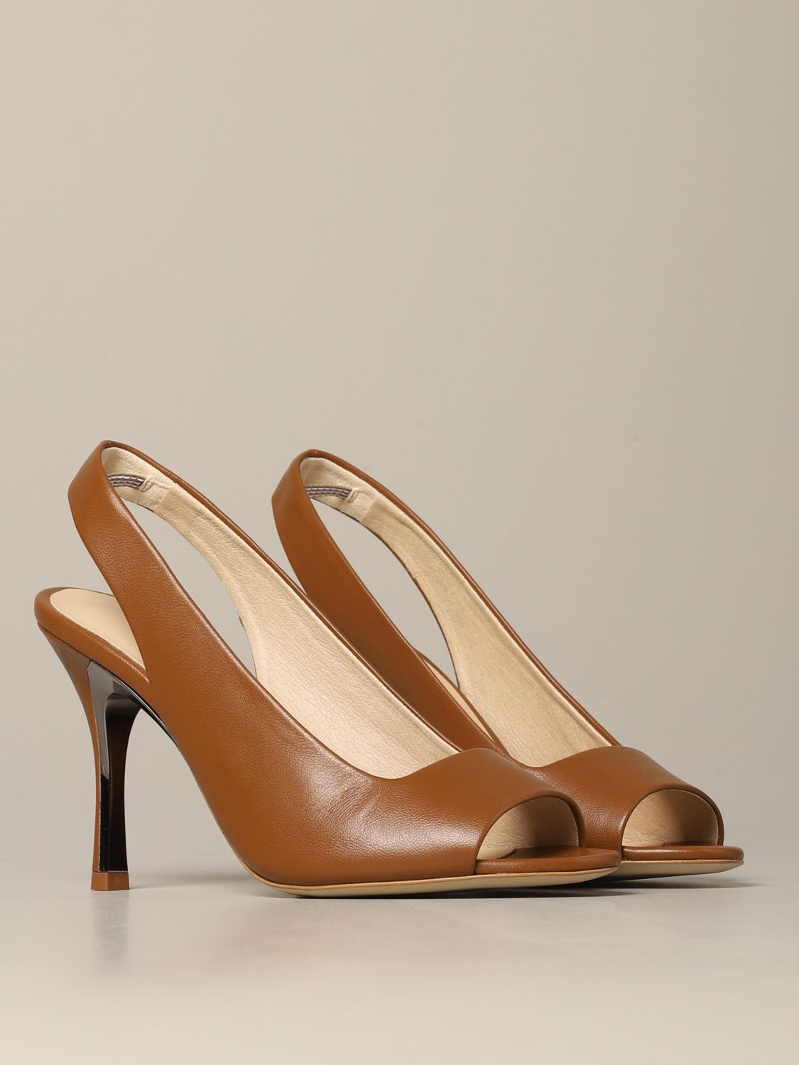 Slingback Yc74 Fulra in nappa leather brown 2