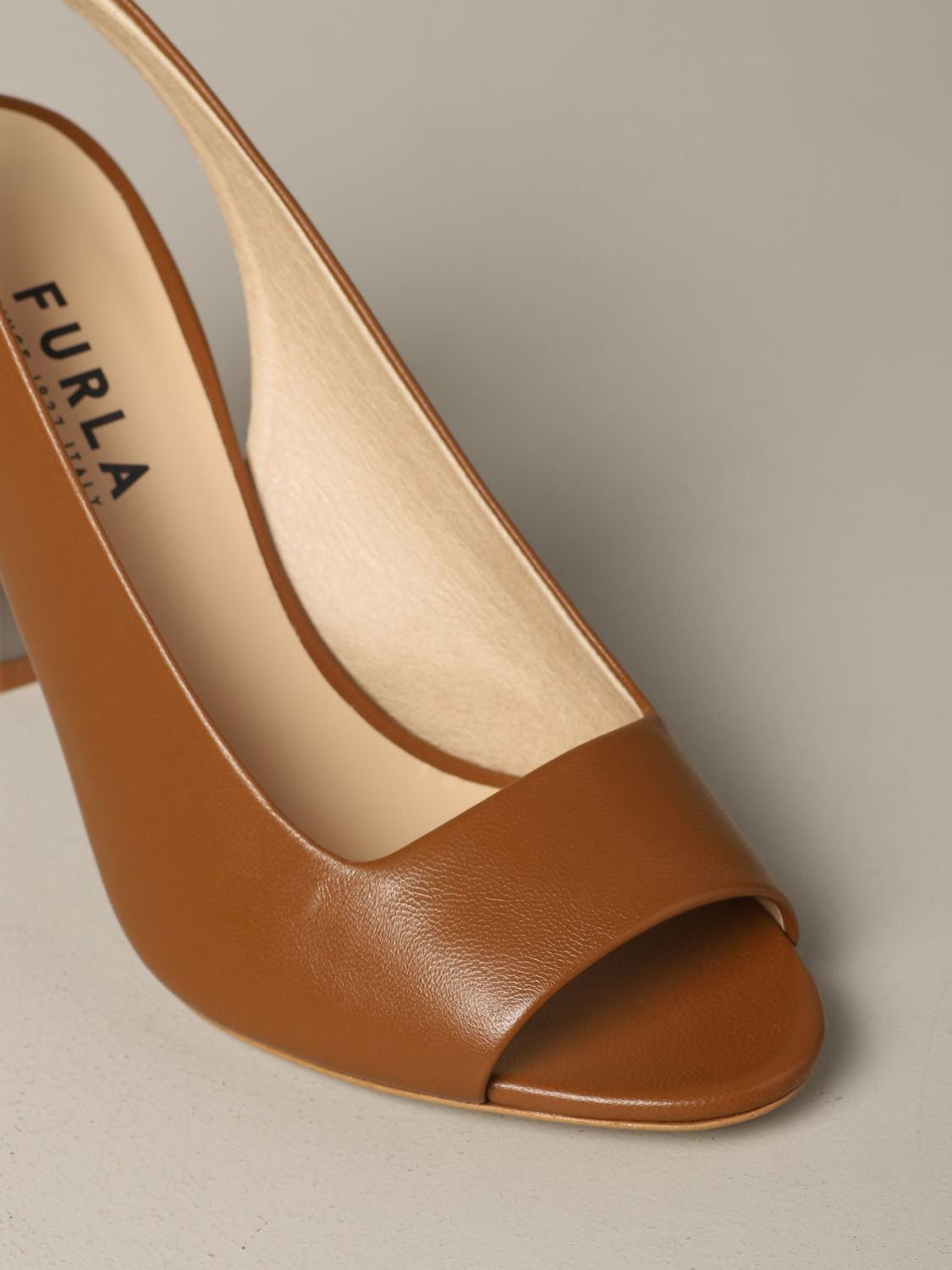 Slingback Yc74 Fulra in nappa leather brown 4