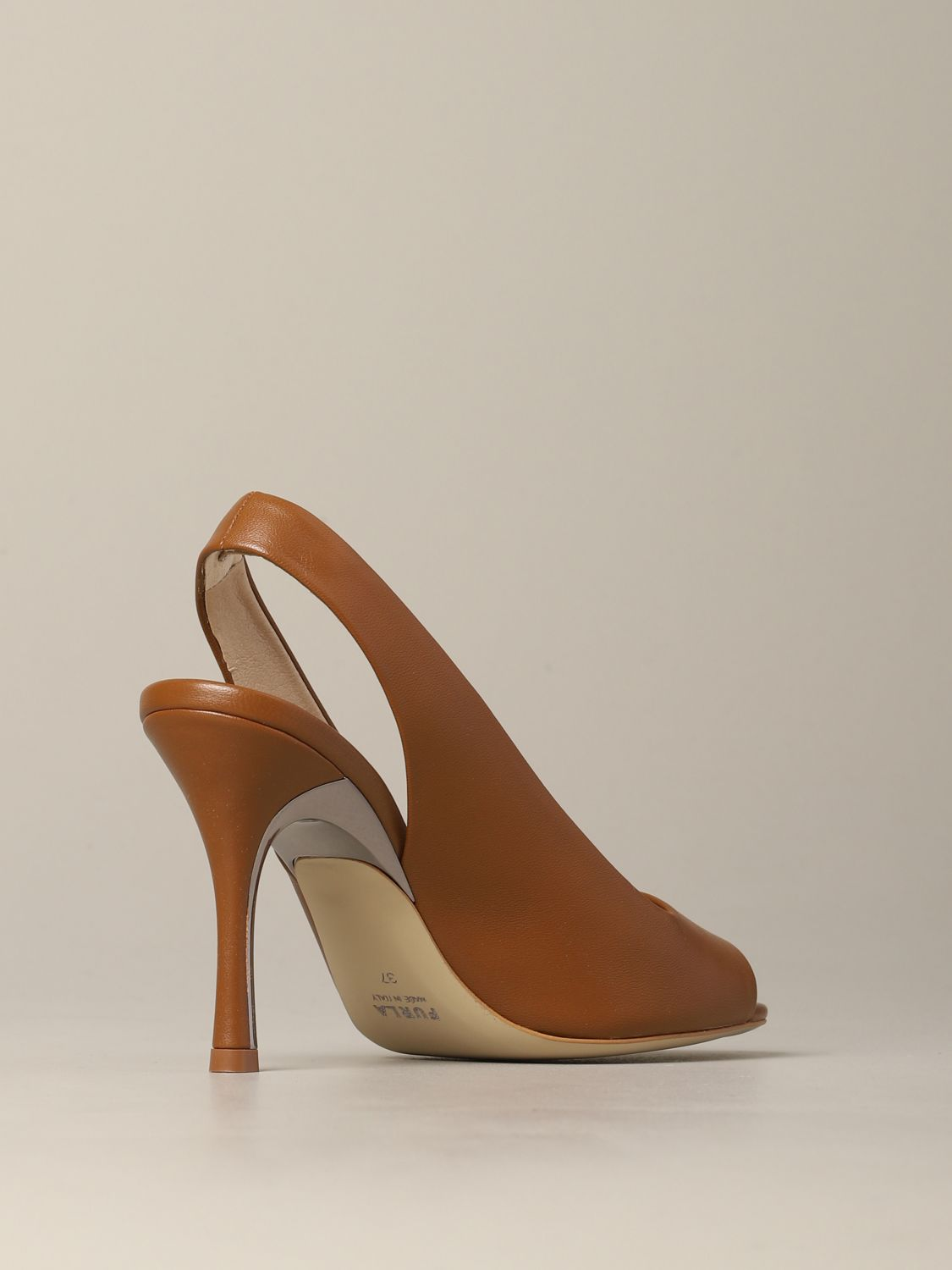 Slingback Yc74 Fulra in nappa leather brown 5
