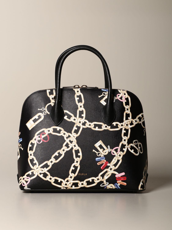 Furla bag with chain print black 1