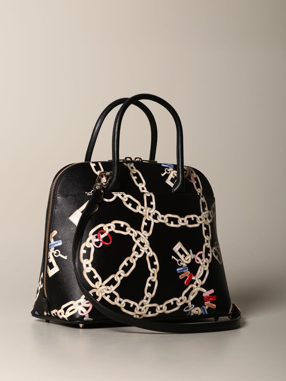 Furla bag with chain print black 2