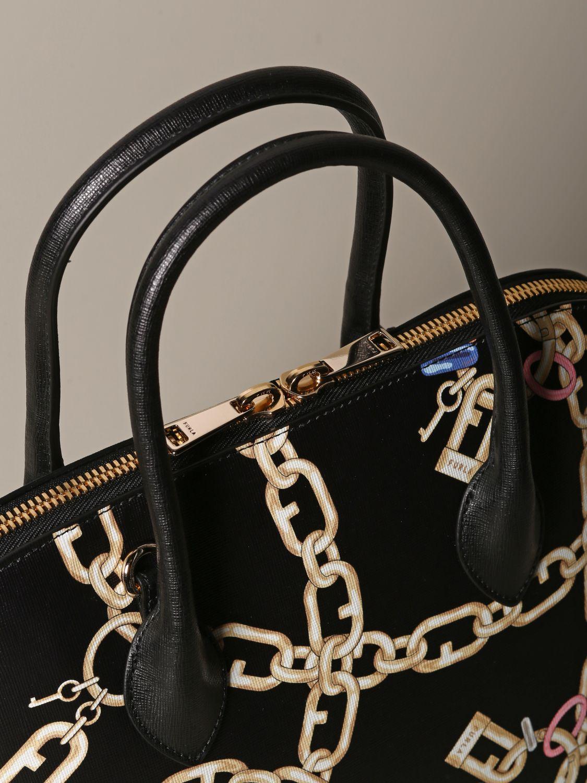Furla bag with chain print black 3