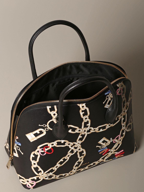 Furla bag with chain print black 4