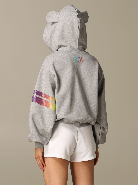 GCDS hoodie with logo print grey 2