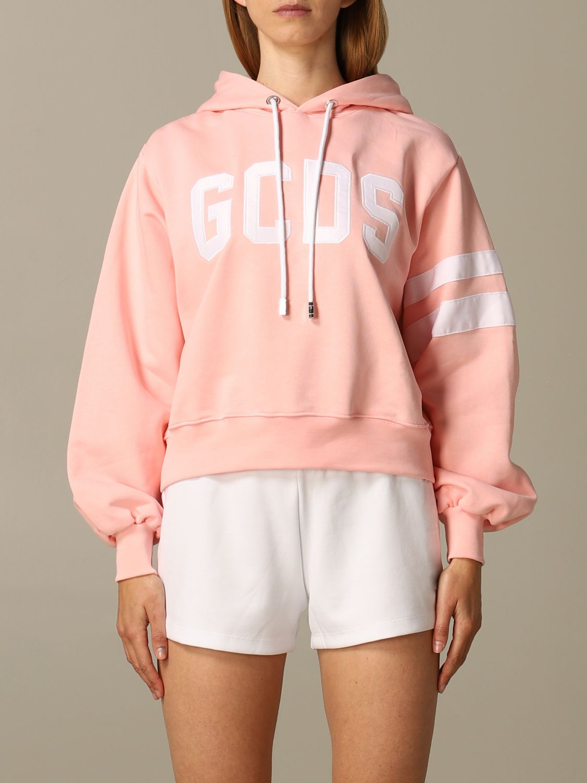 Gcds Hoodie With Logo Print Sweatshirt Gcds Women Pink Sweatshirt Gcds Ss20w020089 Giglio En