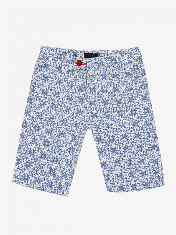 短裤 Baronio: Baronio 印花裤子 浅蓝色 1
