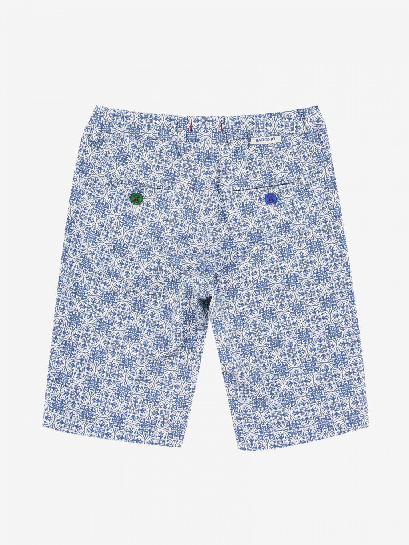 短裤 Baronio: Baronio 印花裤子 浅蓝色 2
