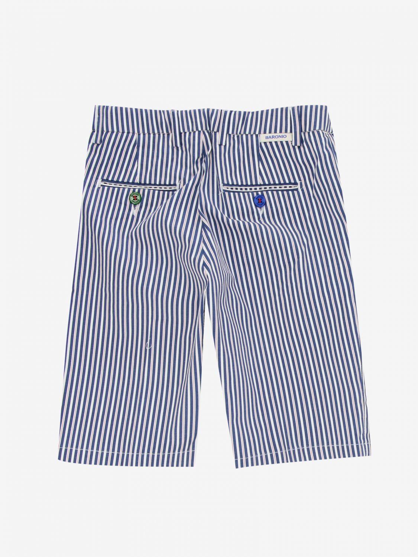短裤 Baronio: Baronio 印花裤子 蓝色 2