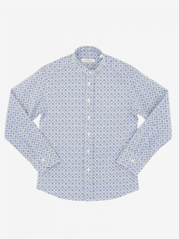 Camicia Baronio: Camicia Boronio in cotone a micro fantasia bianco 1
