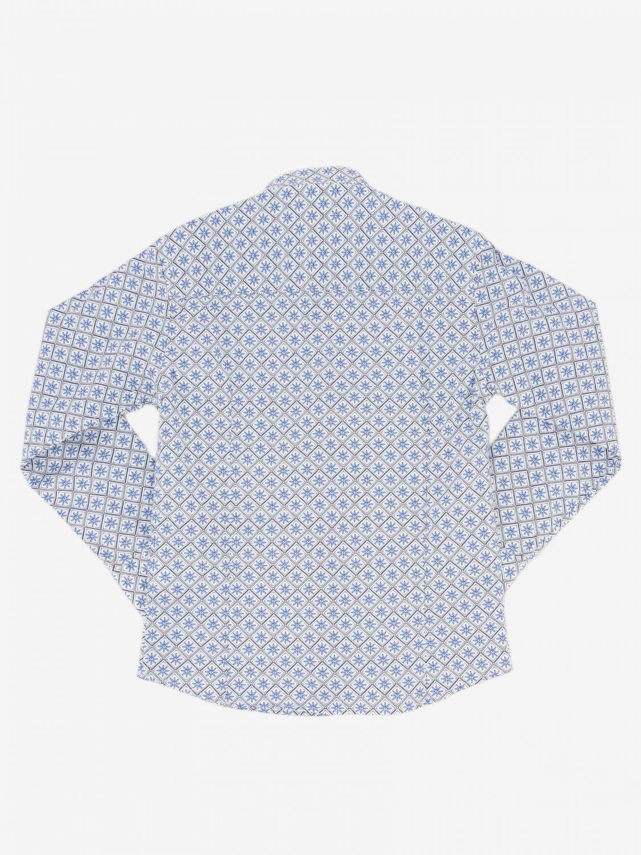 Camicia Baronio: Camicia Boronio in cotone a micro fantasia bianco 2
