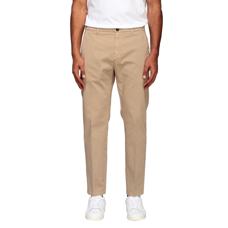 Department 5 slim trousers in garment dyed gabardine beige 1
