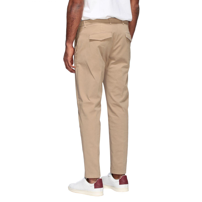 Department 5 slim trousers in garment dyed gabardine beige 3