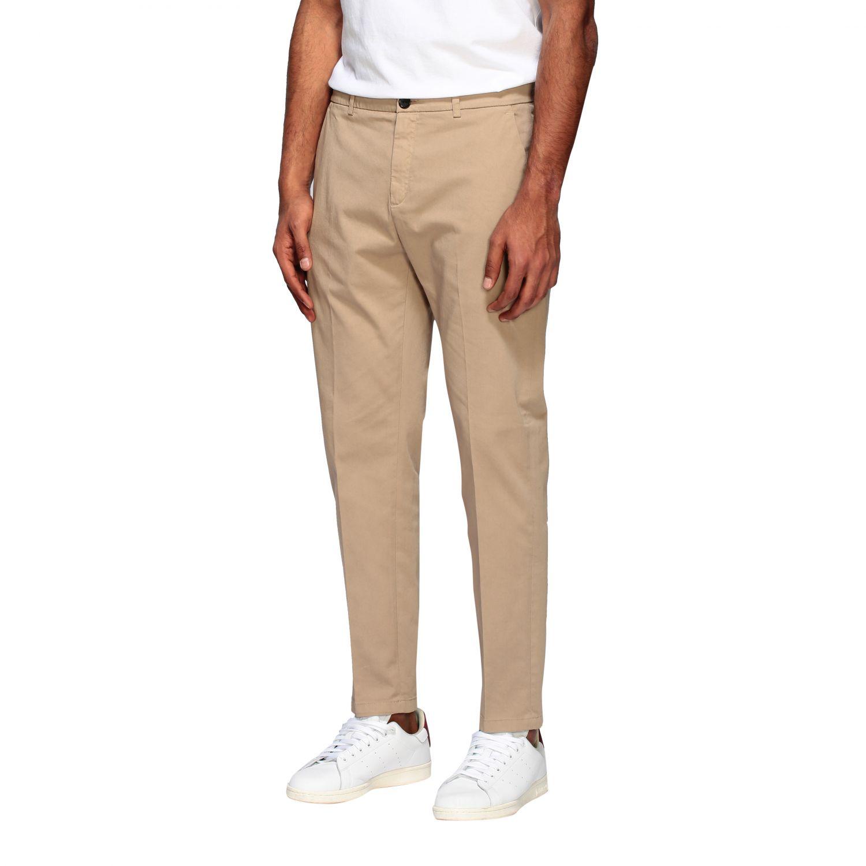 Department 5 slim trousers in garment dyed gabardine beige 4